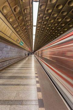 Malostranská metrostation in Praag, Tsjechië - 1 van