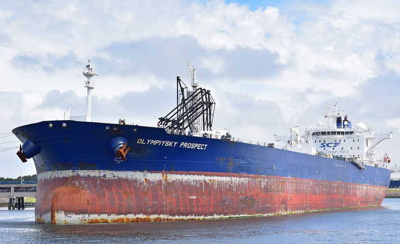 Grand pétrolier à Rotterdam sur Piet Kooistra
