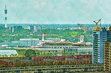 Katendrecht und Dampfschiff Rotterdam von Frans Blok