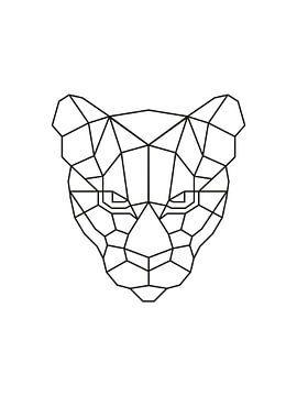 Tiger Geometrischer Druck von MDRN HOME