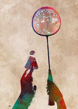 Badminton Sport Kunst #Badminton von JBJart Justyna Jaszke