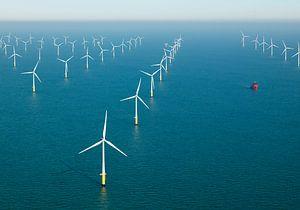 Windpark op het Belgische deel van de Noordzee