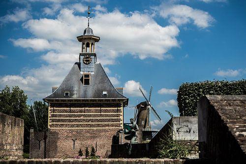 Dalempoort en molen 'De Hoop', Gorinchem