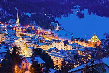 St. Moritz in het Engadin in Zwitserland van Werner Dieterich