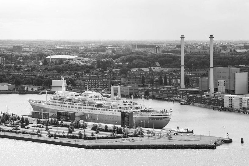 Het SS Rotterdam vanaf de Euromast van MS Fotografie