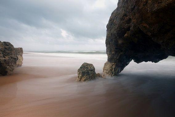 Olifanten rots met een langesluiter in Portugal van Arjan Groot