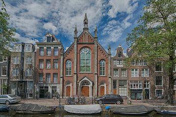 Kirche auf dem Bloemgracht in Amsterdam von Peter Bartelings Photography