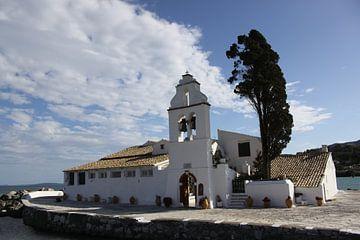 Klooster Vlacherna, Corfu van Cora Unk