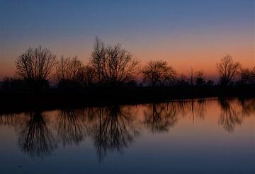 Spiegelung im Wasser von A'da de Bruin
