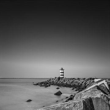 Leuchtturm-Pier Süd von Johanna Blankenstein