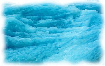 Blauw gletsjer van Maurice Dawson