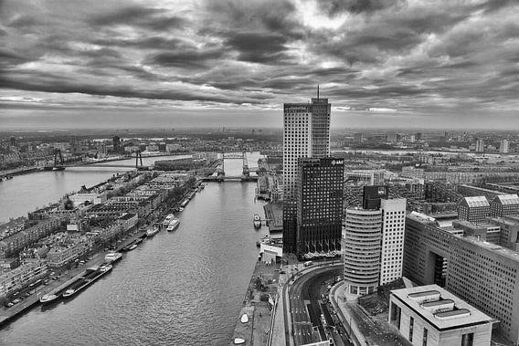 Rotterdam vanaf 42ste verdieping van Rob van der Teen