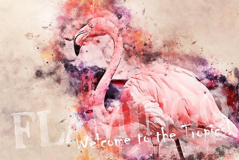 Flamingo - Welcome to the tropics! van Sharon Harthoorn