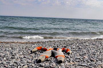 Tauchanzug am Strand von Vitt auf Rügen von GH Foto & Artdesign