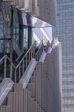 Lijnenspel beton Zuidas Amsterdam van Marly De Kok