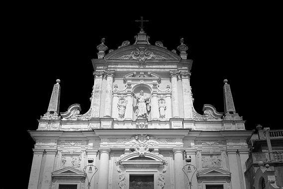 Barockkirche, Italien (schwarz-weiß)