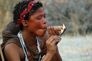 San-Frau in Botswana von Marieke Funke