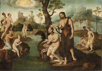 Die Taufe Christi, Maarten van Heemskerck, um 1560 - um 1565
