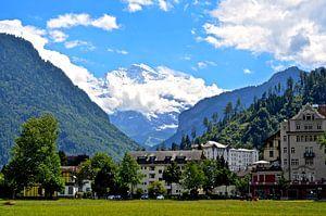 Jungfrau berg from Interlaken