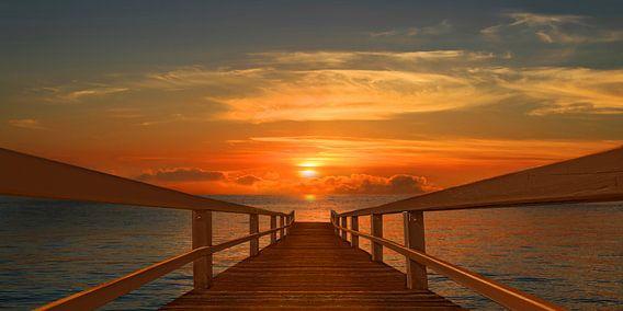 Auf direktem Weg zum Sonnenuntergang von Monika Jüngling
