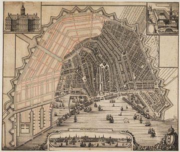 Amsterdam, historische plattegrond van