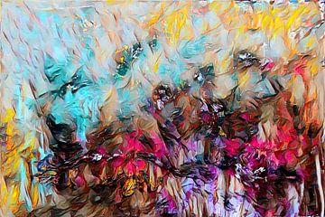 Abstracte kunst - Vuur en ijs van Patricia Piotrak