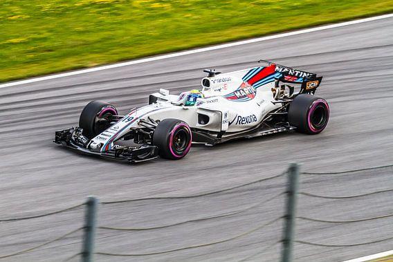Felipe Masa in actie tijdens de Grand-Prix van Oostenrijk 2017