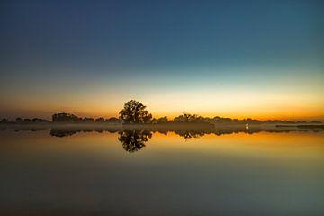 Zonsondergang natuurgebied Dakhorst van