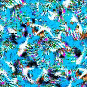"""Pattern """"Blue swirl"""" van Leopold Brix"""