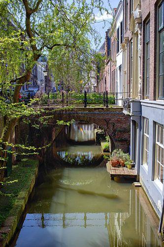 De Kromme Nieuwegracht in Utrecht in de lente (1) van