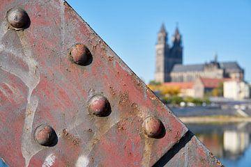 Hubbrücke und Magdeburger Dom von Heiko Kueverling
