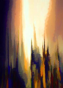 Abstrakte Landschaft 8 von Angel Estevez