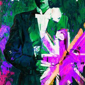 David Bowie - Union Jacks - The Duke - Gift Green  von Felix von Altersheim