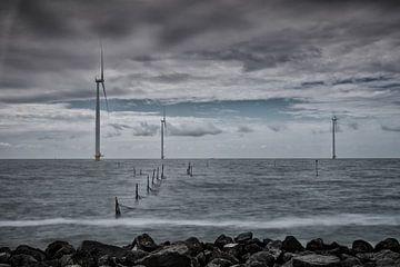 Uitzicht over het IJsselmeer   van Jos Reimering