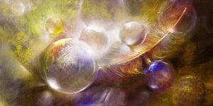 Featherlight - Glazen bollen met een veer