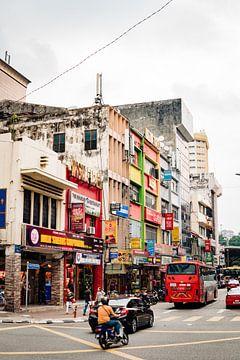 De straten in Kuala Lumpur van Martijn de Voogd