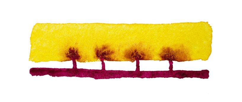 The Twisted Sistertrees van WatercolorWall