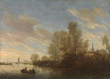 Riviergezicht bij Deventer, Salomon van Ruysdael, 1645