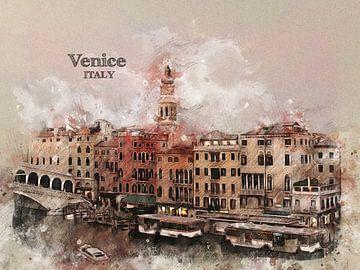 Venedig Venice van Printed Artings