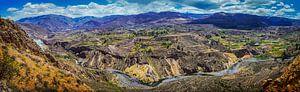 Breed panorama van de Colca Canyon, Peru