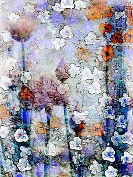 Verspreide bloemen 3 van Claudia Gründler
