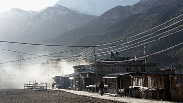 'Acclamatiseren in Manang', Nepal van
