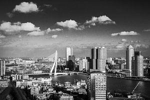 B&W Skyline of Rotterdam van