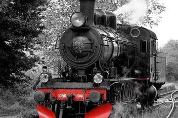 Dampflokomotive mit Lokführer. von Foto Graaf Eric