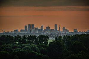 Skyline van Den Haag van Arnold de Gans