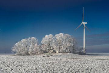 Windmolen bij boerderij sur Maarten Drupsteen