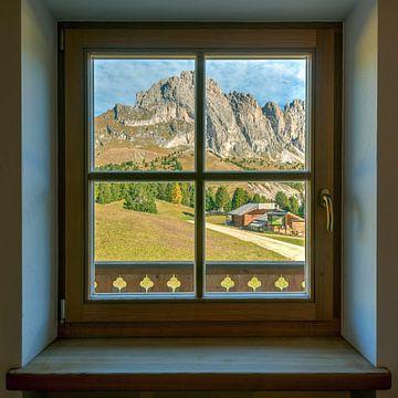 Dolomieten vensterweergave van Michael Valjak