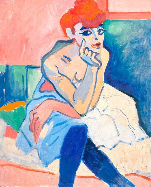 Vrouw in een hemd, André Derain van Meesterlijcke Meesters