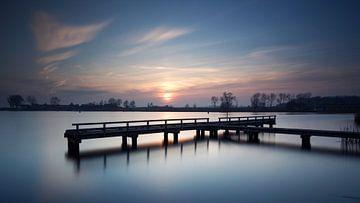 Sonnenuntergang anlegesteg #01 von Gerhard Niezen Photography