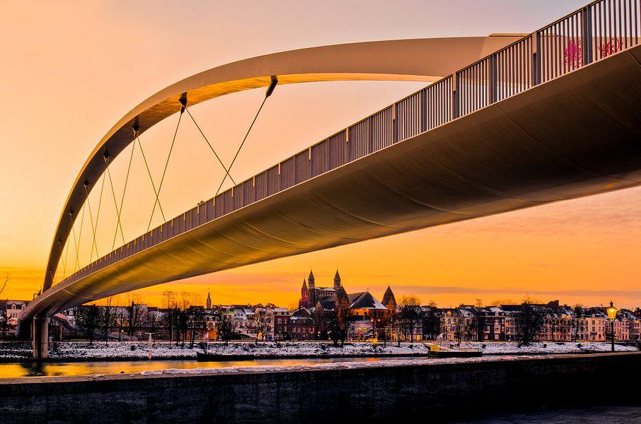 Hoge brug in Maastricht - Gouden uur